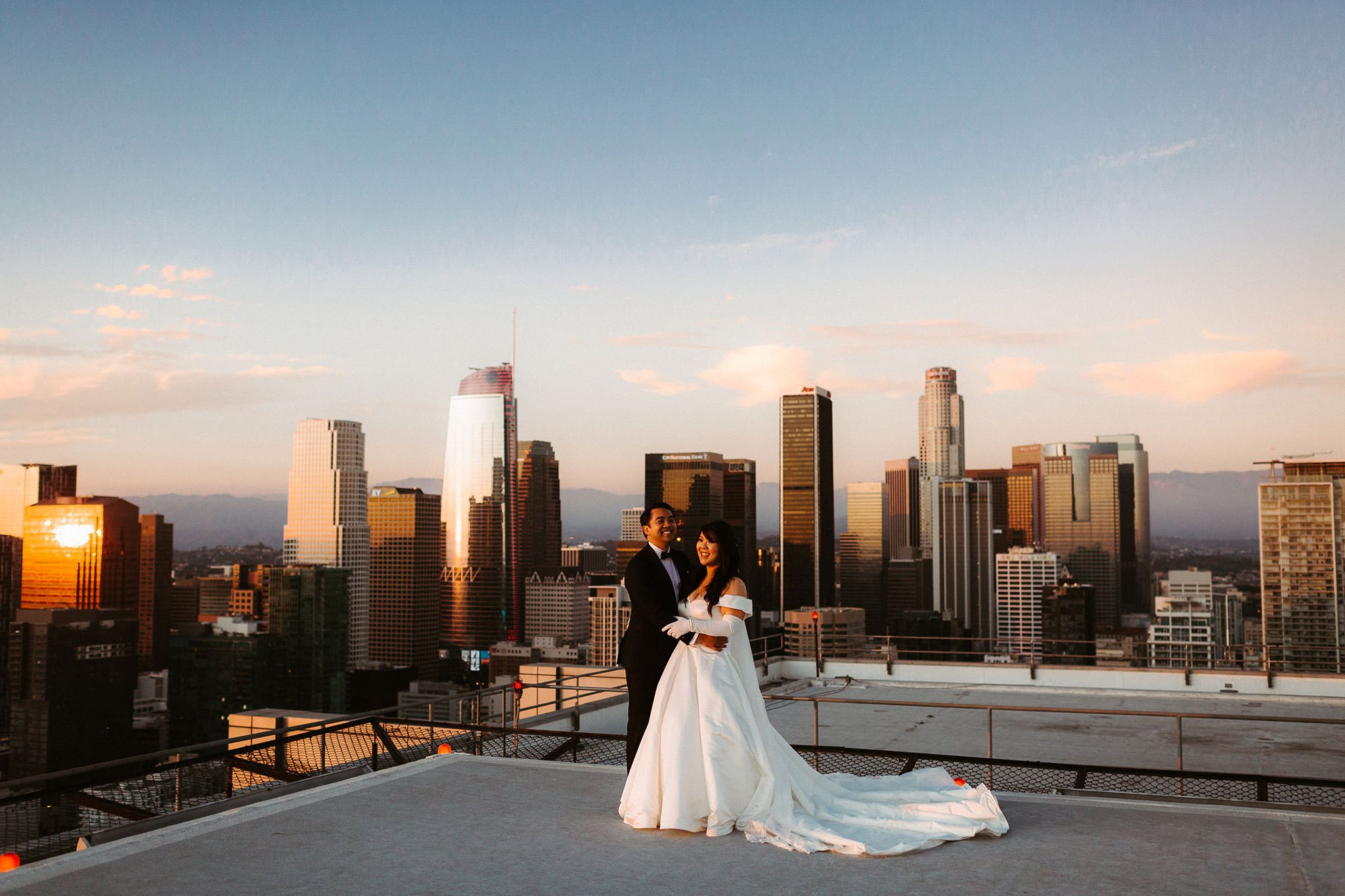 los angeles rooftop elopement 001