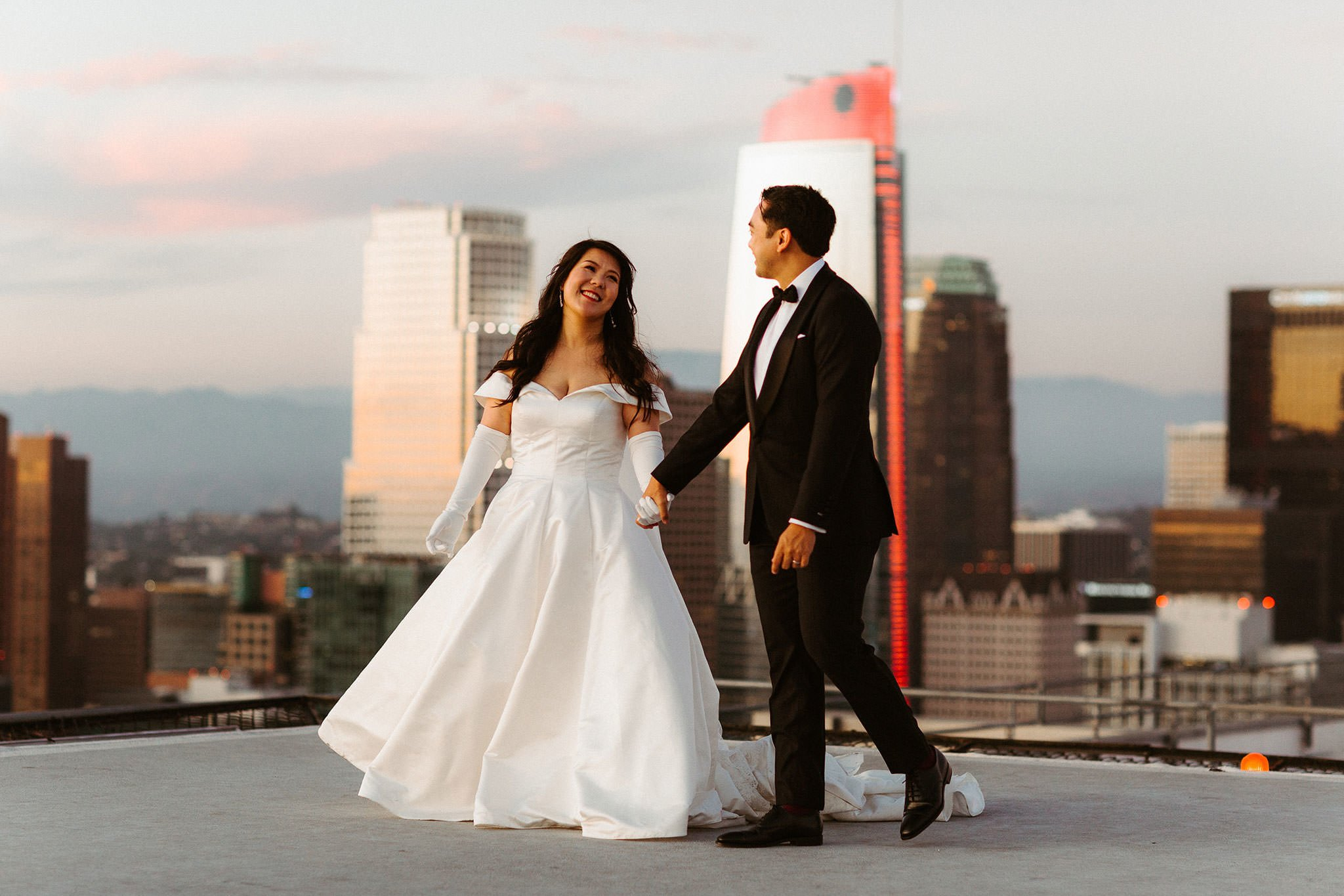 los angeles rooftop elopement 002